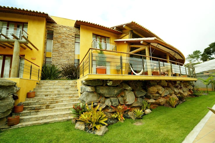 Residência RS: Terraços  por Mascarenhas Arquitetos Associados