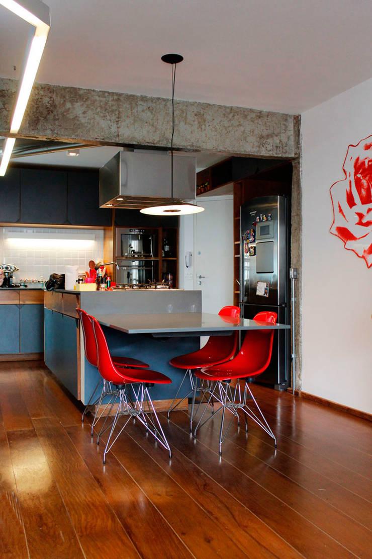 Apartamento na Chácara Klabin: Cozinhas  por Mínima arquitetura e urbanismo