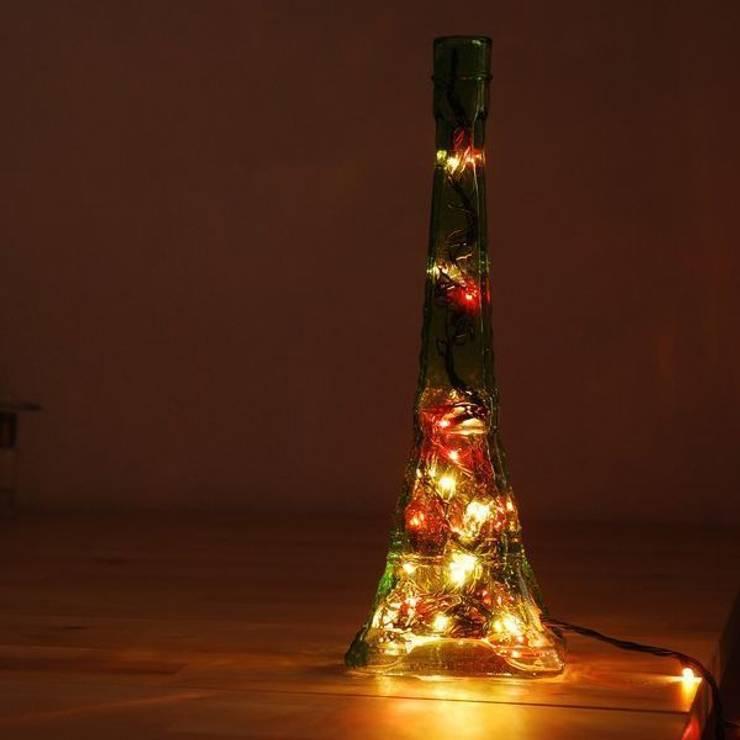 LAMPBADA DESIGN LAMP – Eiffelbottlelamp, Tasarım, Cam Gece Masa Lambası:  tarz İç Dekorasyon
