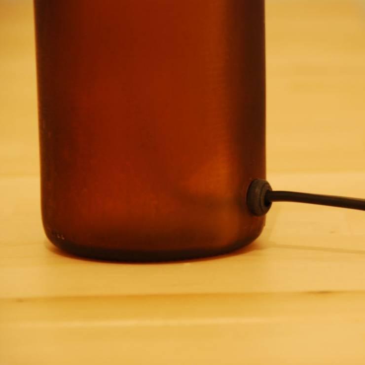 LAMPBADA DESIGN LAMP – Bigdarkbeerlamp Tasarım, Cam Gece Masa Lambası:  tarz