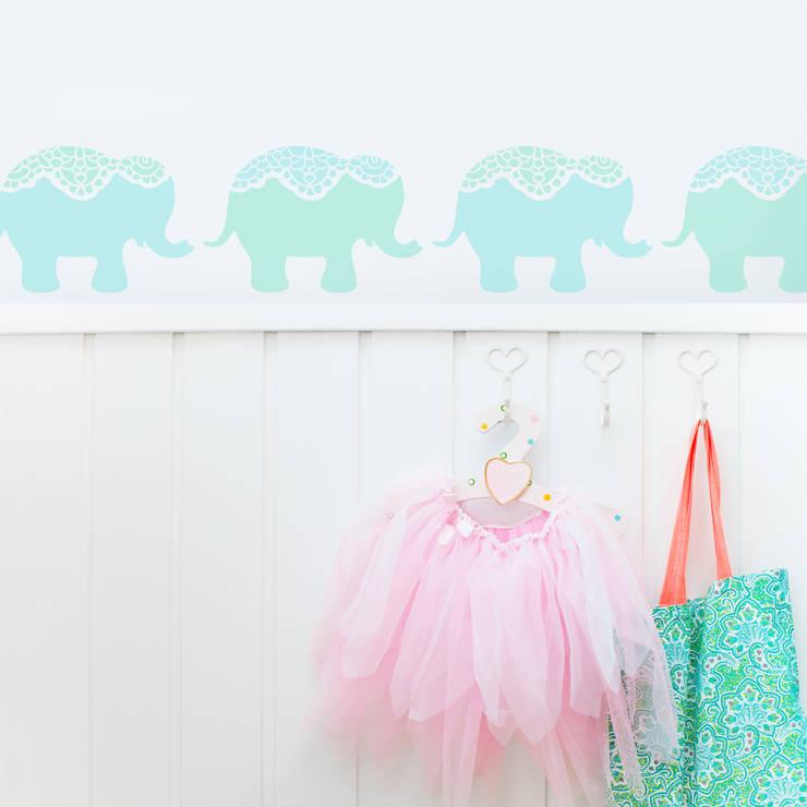 Nellie Elephant Stencil from The Stencil Studio Scandinavian Collection:  Nursery/kid's room by The Stencil Studio Ltd