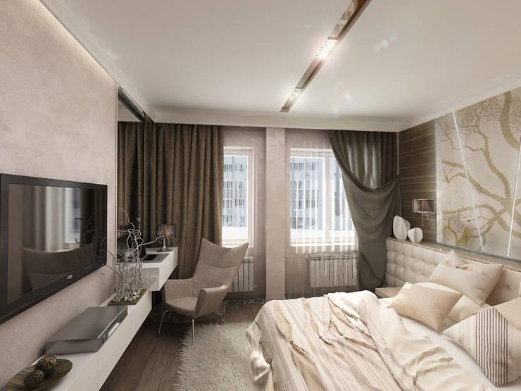 Необрутальный шик: Спальни в . Автор – De Style