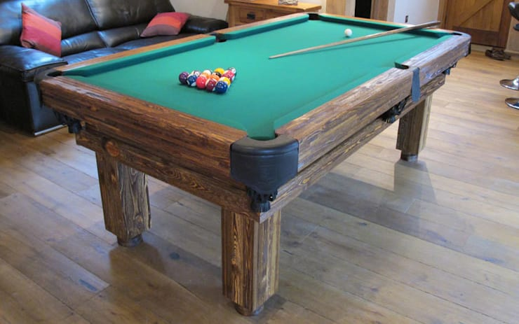 Rustic Pool Table:  Multimedia room by Luxury Pool Tables Limited