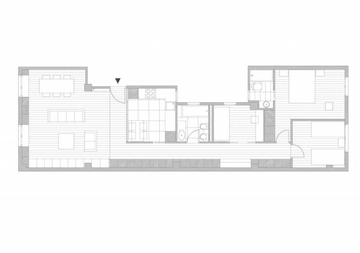 Plano de la reforma:  de estilo  de DonateCaballero Arquitectos