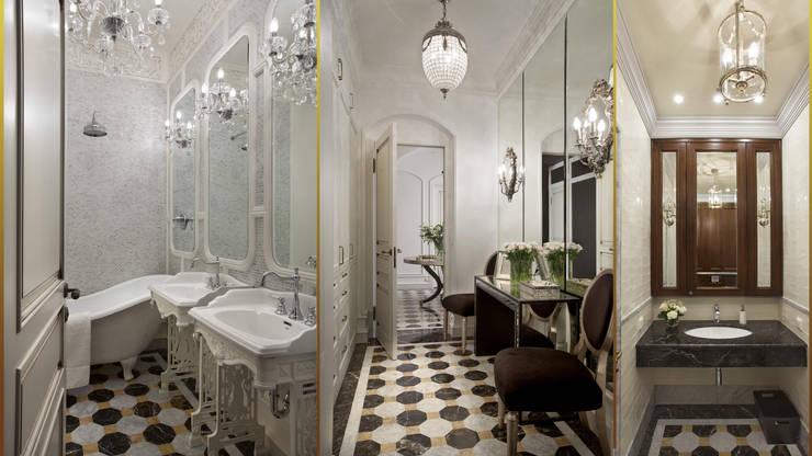 Casa de banho  por Архитектурное бюро 'Золотые головы'