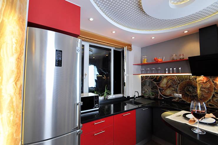 Кухня в форме ракушки: Кухня в . Автор – Сделано со вкусом на ТНТ,