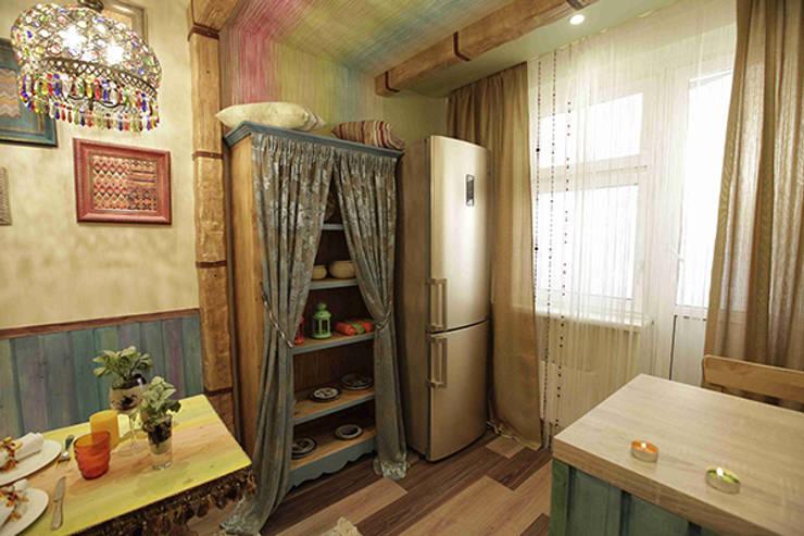 Кухня в стиле бохо-шик: Кухня в . Автор – Сделано со вкусом на ТНТ