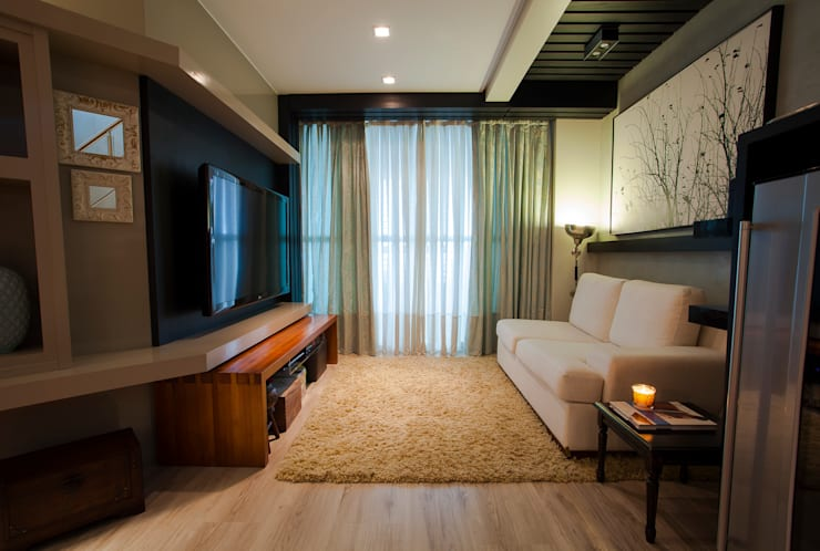 Apartamento Cobertura Duplex: Salas de estar  por Luine Ardigó Arquitetura,