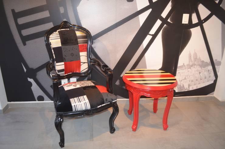 Proyecto Vestíbulo de Oficina en Polanco: Oficinas y tiendas de estilo  por Sandra Molina