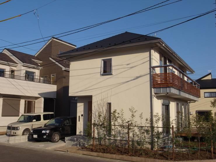 外観: 麻生英之建築設計事務所が手掛けた家です。,