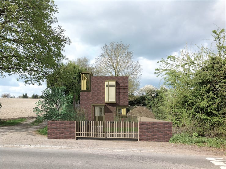 View from front garden:  Houses by Satish Jassal Architects