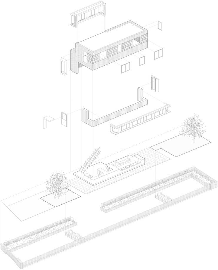 Axonometric:   by Satish Jassal Architects