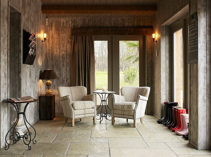 Fletcher's Cottage Sun Lounge: rustic Spa by Aitken Turnbull Architects