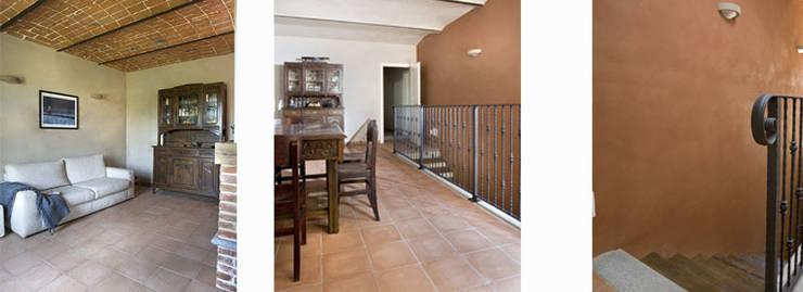 Un cascina naturale: Sala da pranzo in stile  di P.S.Studio - progettazione sostenibile,