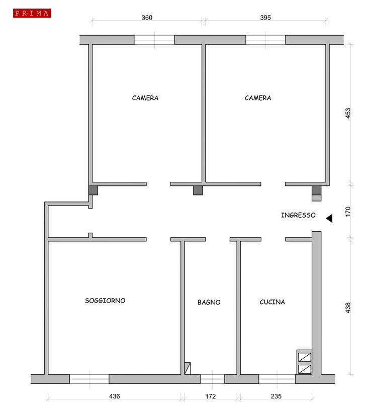 Home restyling per famiglia: Cucina in stile  di Rossana Di San Leonardo architetto,