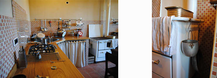 Un cascina naturale: Cucina in stile  di P.S.Studio - progettazione sostenibile,