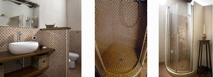 Un cascina naturale: Bagno in stile  di P.S.Studio - progettazione sostenibile,