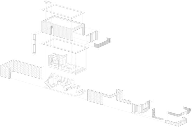 Axonometric :   by Satish Jassal Architects