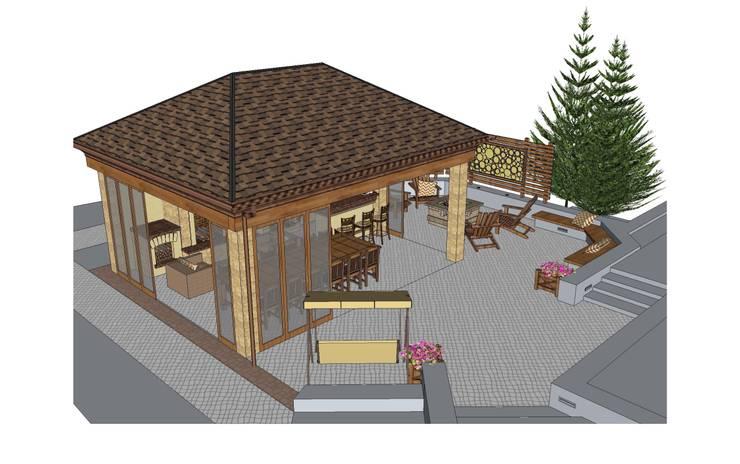 Эскизное проектирование беседки и площадки для отдыха:  в . Автор – BersoDesign ❖ Landscape architecture. Design.