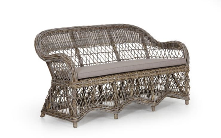 Babil Concept – Sanna Doğal Rattan Koltuk:  tarz Balkon, Veranda & Teras
