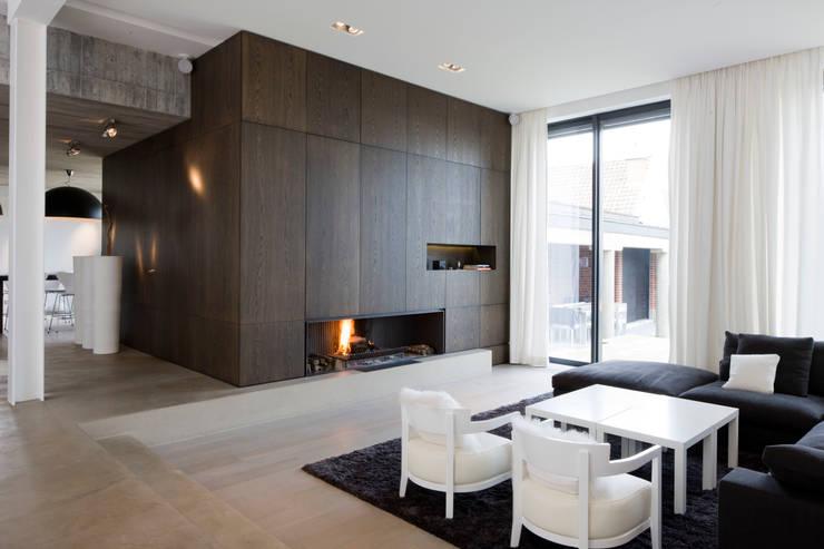 Salon: Salon de style de style Moderne par GUILLAUME DA SILVA ARCHITECTURE INTERIEURE
