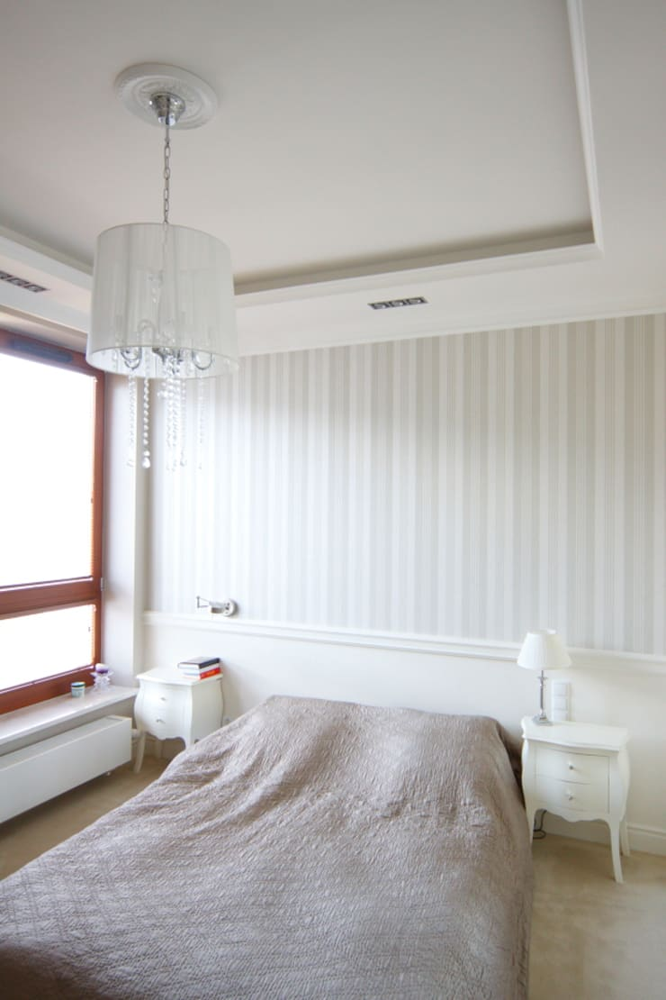 apartament Willanów: styl , w kategorii Sypialnia zaprojektowany przez livinghome wnętrza Katarzyna Sybilska