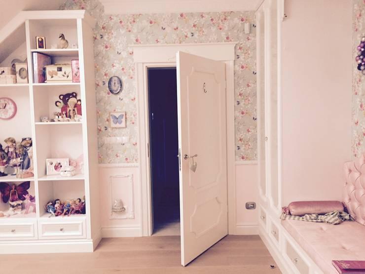 sypialnia dziewczynki -słodko i spokojnie: styl , w kategorii Sypialnia zaprojektowany przez livinghome wnętrza Katarzyna Sybilska