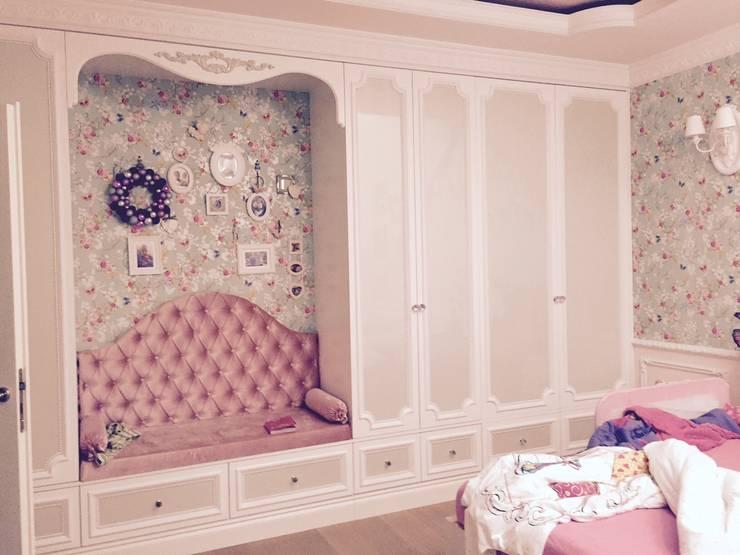 meble zaprojektowałam myśląc o potrzebach estetycznych małej dziewczynki ;-): styl , w kategorii Sypialnia zaprojektowany przez livinghome wnętrza Katarzyna Sybilska