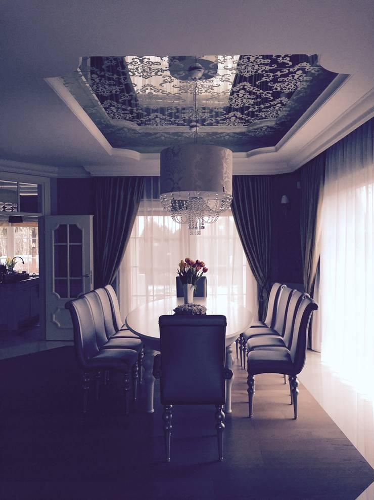 Dom 450 m 2 Dziekanów leśny: styl , w kategorii Jadalnia zaprojektowany przez livinghome wnętrza Katarzyna Sybilska