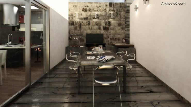 Salas de jantar clássicas por arquitecto9.com