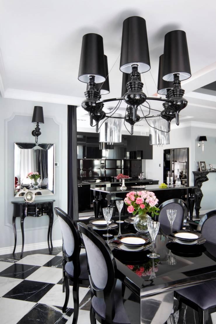 APARTAMENT DLA DWOJGA : styl , w kategorii Jadalnia zaprojektowany przez livinghome wnętrza Katarzyna Sybilska