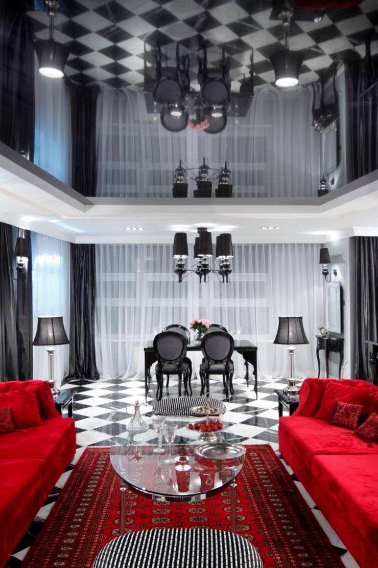 STÓŁ MOJEGO PROJEKTU NA METALOWYCH WYCINANYCH NOGACH : styl , w kategorii Jadalnia zaprojektowany przez livinghome wnętrza Katarzyna Sybilska