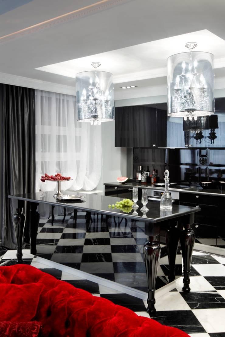APARTAMENT DLA DWOJGA : styl , w kategorii Kuchnia zaprojektowany przez livinghome wnętrza Katarzyna Sybilska