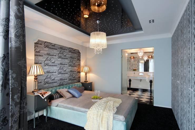 APARTAMENT DLA DWOJGA : styl , w kategorii Sypialnia zaprojektowany przez livinghome wnętrza Katarzyna Sybilska