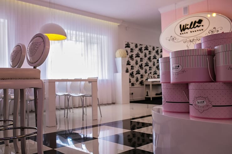 SHOWROOM WILLI : styl , w kategorii Przestrzenie biurowe i magazynowe zaprojektowany przez livinghome wnętrza Katarzyna Sybilska,