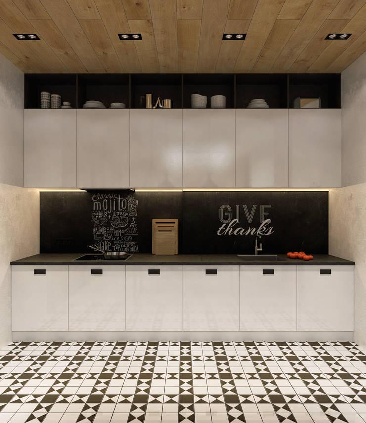 Лофт для молодой пары.: Кухни в . Автор – Домрачева Екатерина