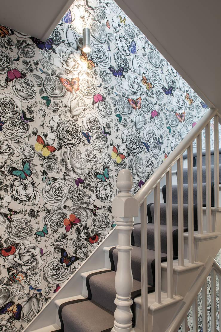 Friern Road, London:  Corridor & hallway by Red Squirrel Architects Ltd