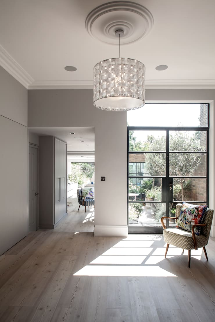 Friern Road, London:  Living room by Red Squirrel Architects Ltd
