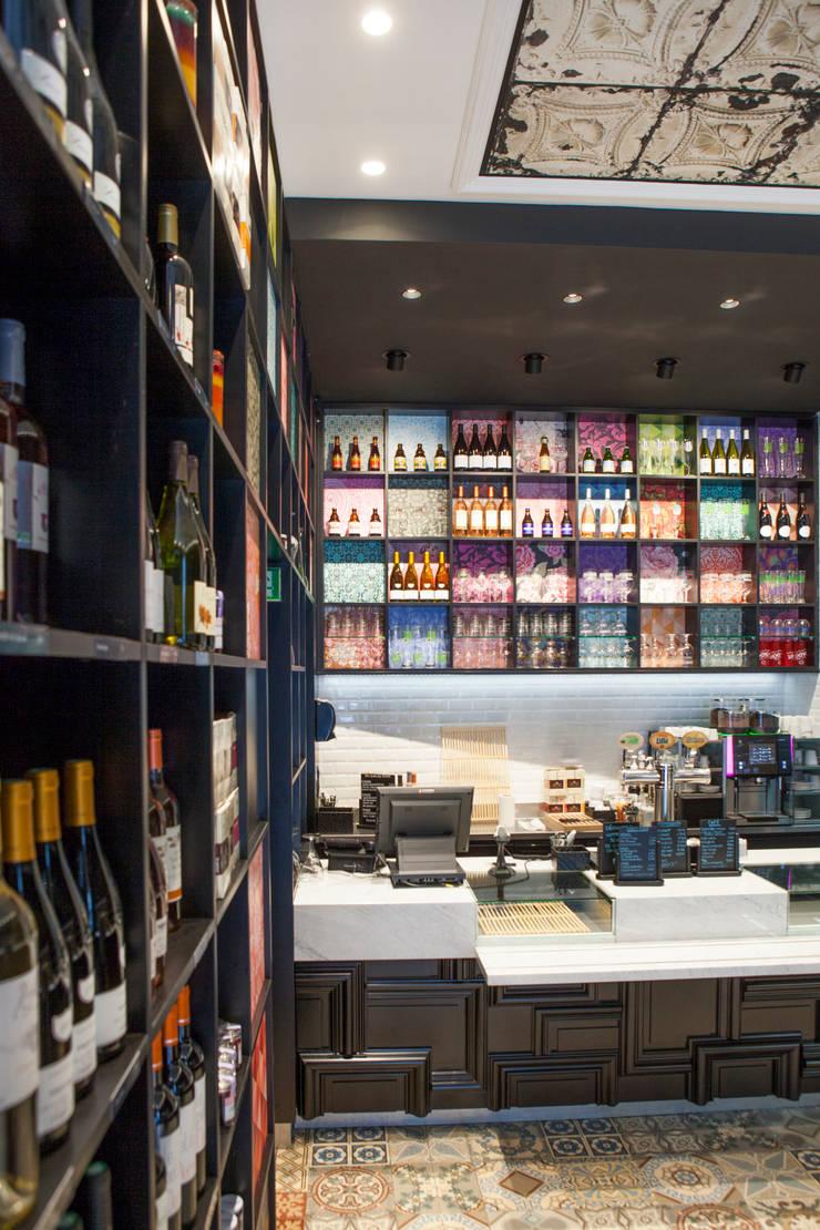 Comptoir: Restaurants de style  par GUILLAUME DA SILVA ARCHITECTURE INTERIEURE