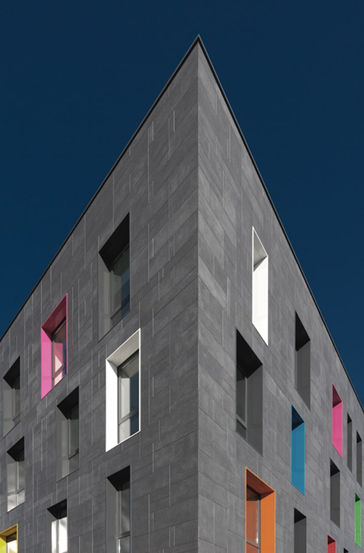 edificio polifunzionale sant'agostino _ paderno dugnano: Complessi per uffici in stile  di andrea borri architetti, Moderno