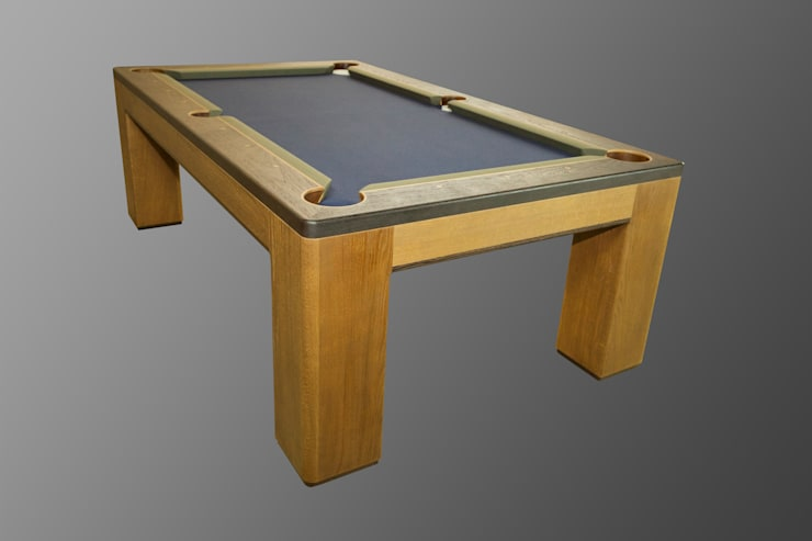 Custom 'Spartan' American Pool Table.:  Dining room by Designer Billiards