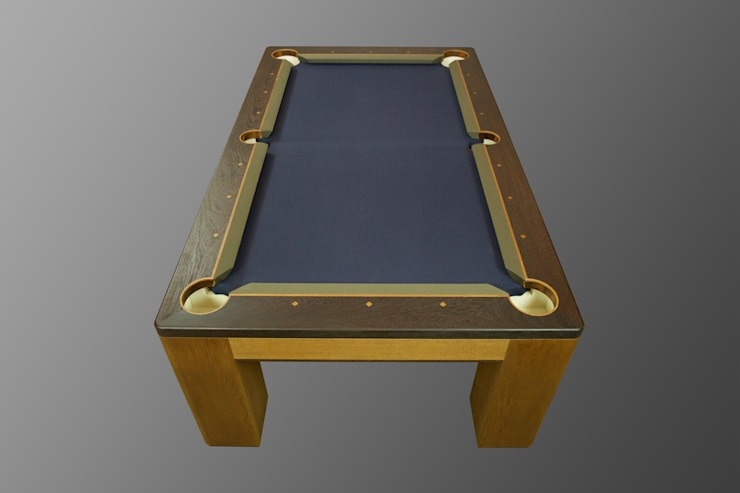 Custom 'Spartan' American Pool Table.:  Multimedia room by Designer Billiards