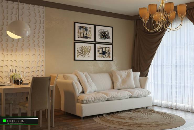Квартира для отдыха в Болгарии: Гостиная в . Автор – LC.DESIGN