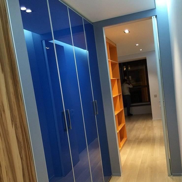 Вид на встроенный шкаф : Гостиная в . Автор – PlatFORM
