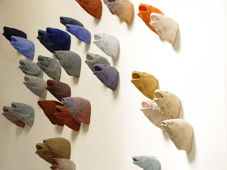 hunting trophies fishes:  Kunst  door Van Dessel en Joosten