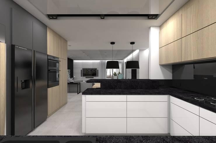 Kitchen by BAGUA Pracownia Architektury Wnętrz