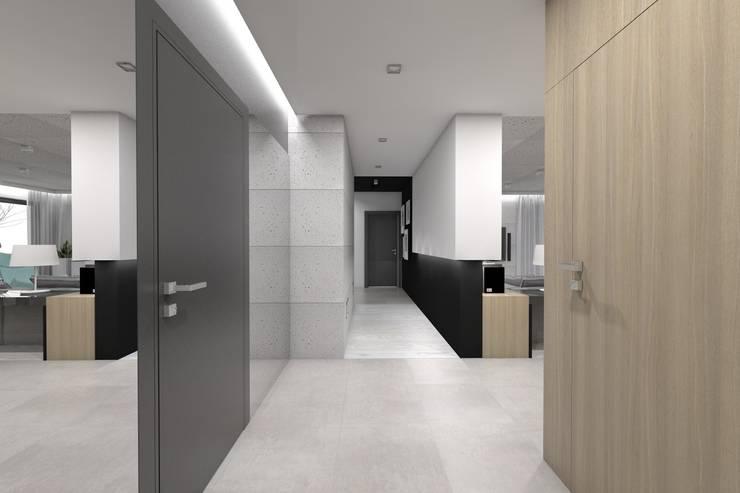 Projekt domu jednorodzinnego 2 (wykonany dla A2.Studio Pracownia Architektury): styl , w kategorii Korytarz, przedpokój zaprojektowany przez BAGUA Pracownia Architektury Wnętrz
