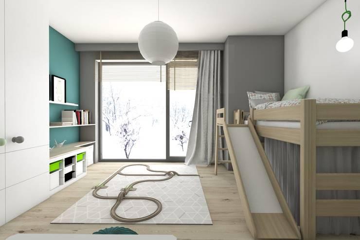 BAGUA Pracownia Architektury Wnętrz: modern tarz Çocuk Odası