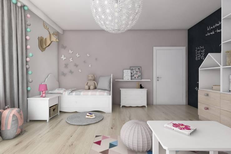Pokoje dziecięce  w domach jednorodzinnych (projekty wykonane dla A2.Studio Pracownia Architektury): styl , w kategorii Pokój dziecięcy zaprojektowany przez BAGUA Pracownia Architektury Wnętrz