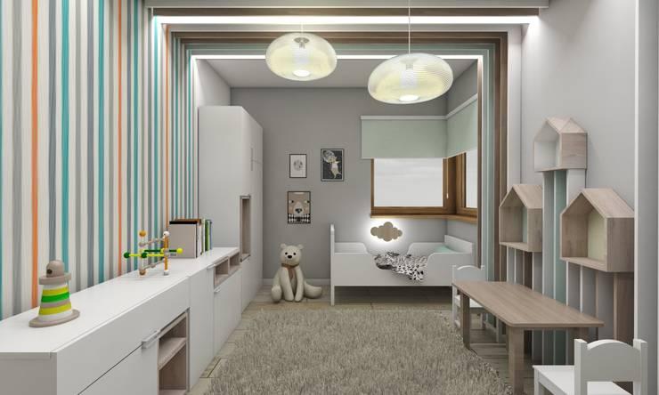 scandinavian Nursery/kid's room by BAGUA Pracownia Architektury Wnętrz
